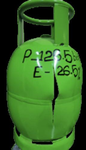 a cylinder blast at 126 bar in the burst test