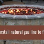 How to install natural gas line to fire pit